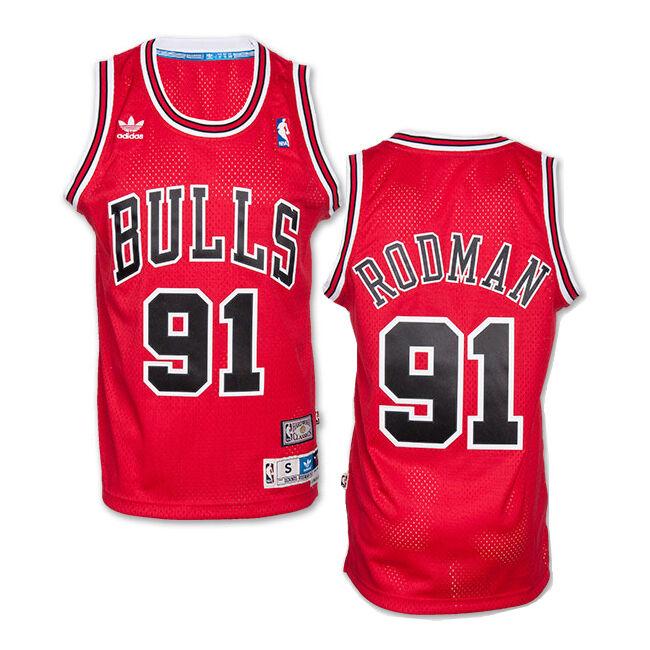bdcfc02957b021 Dennis Rodman Chicago Bulls Adidas NBA Soul Swingman Swingman Swingman  Jersey RED 2ca89d