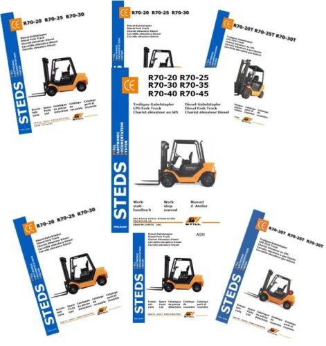 Typ 7032-7034 VW-Diesel Ersatzteiliste STILL R70-20 bis 30 Werkstatthandbuch
