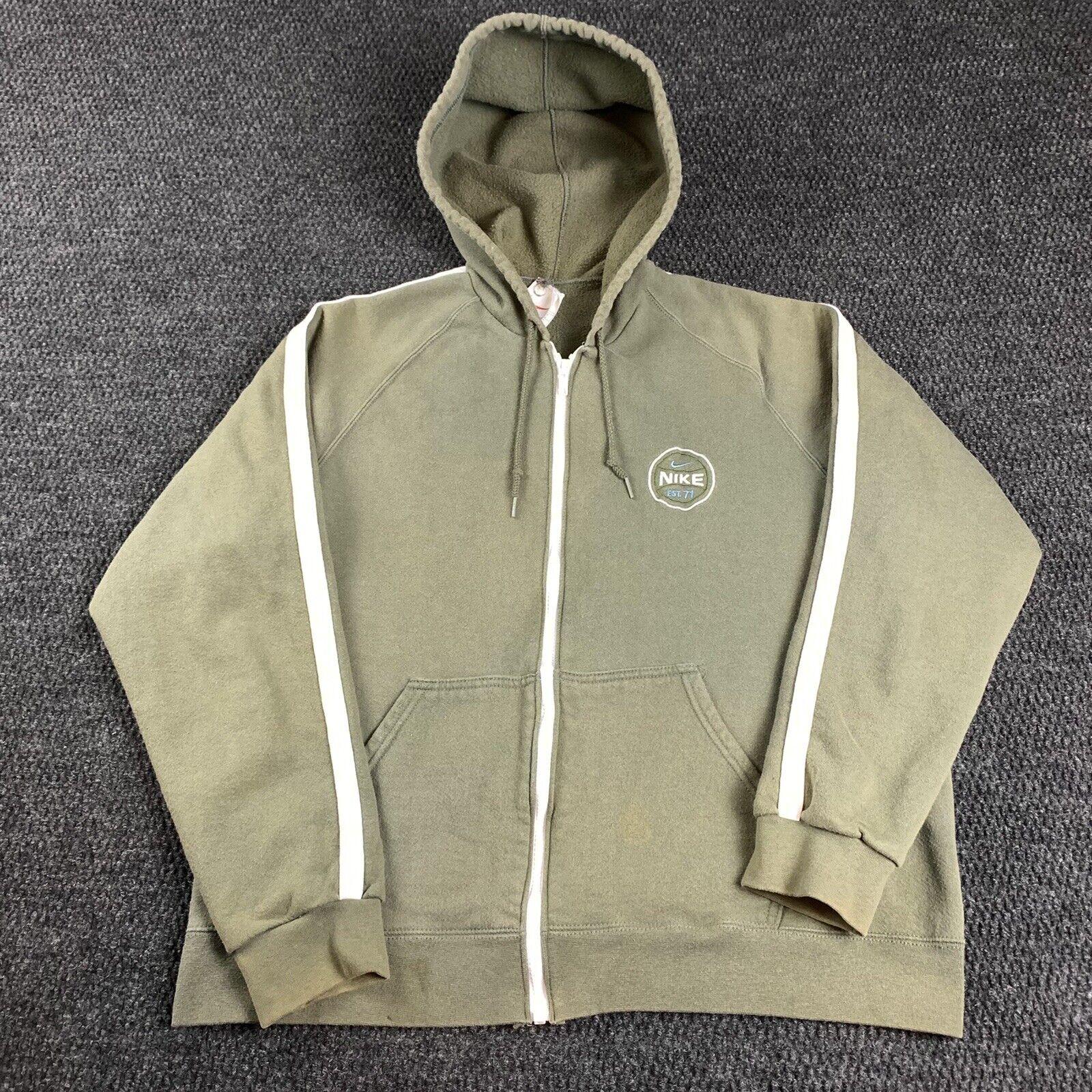 Vintage 90s Nike Womens XL Full Zip Jacket Hoodie… - image 1