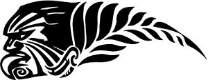 AOTEAROA-NEW-ZEALAND-KIWI-SILVER-FERN-WARRIOR-STICKER-BUMPER-STICKER-WHITE