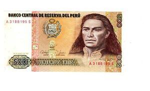 Billet De 500 Quinientos Intis Du Perou Xfonco8r-07235534-197992097