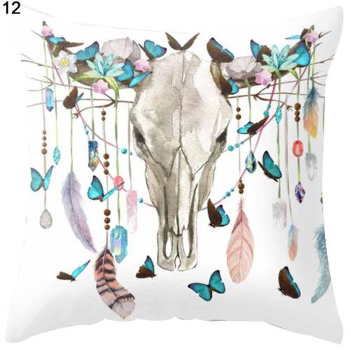 Bohemia Dream Catcher Pillow Case Cushion Cover 18/'/'x18/'/' Soft Home Decor Eyeful