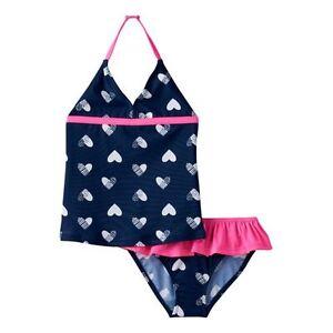2579a5c714 Baby Girls OshKosh B gosh Heart Printed Halter Tankini Top   Bottoms ...