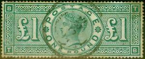 GB 1891 Green SG212 Good Used