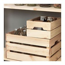 IKEA Wooden Storage Kitchen Wedding Timber Boxes Crate Wood Box Chest Stackable