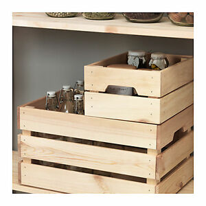 Image Is Loading Ikea Wooden Storage Kitchen Wedding Timber Bo Crate