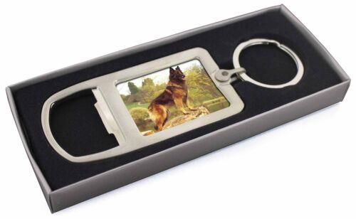 Tervueren Belgian Shepherd Dog Chrome Metal Bottle Opener Keyring in AD-BST1MBO