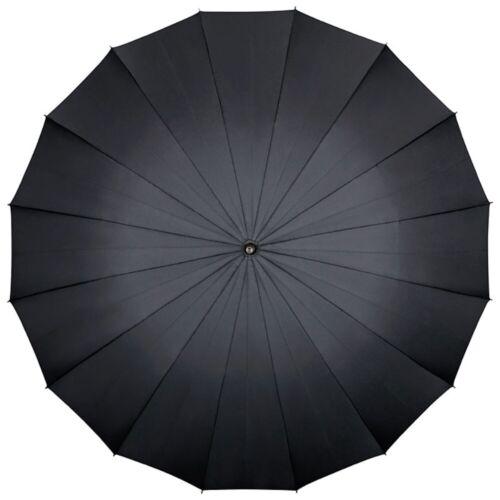Regenschirm Automatik 16-Segmente uni groß stabil Damen Herren 2-Personen Devon