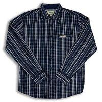 Men Solo Semore Long Sleeve Size L Shirt Button Down Blue