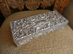 Vintage Silver Plate Godinger Jewelry Box With Mirror Ebay