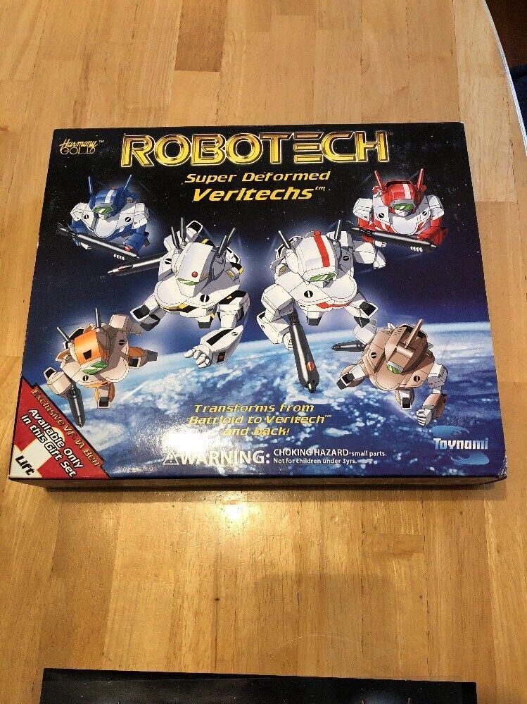 ROBOTECH Super Deformed Veritechs Battloid Gift Set Exclusive VF-1A Ben Dixon