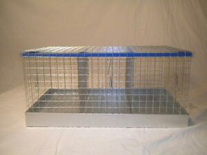 New 3-Hole Rabbit Cage /chicken/ Bunny Transport cage 14 X 24 X 11 high bunny