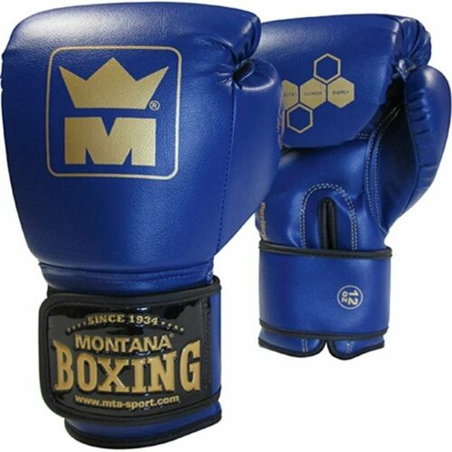 Bleu Gants de boxe Montana MMB 100 Bleu