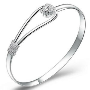 SilverPlated-Bracelet-String-Cuff-Bracelet-Bangle-Wristband-Women-Jewelry-WH