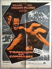 Affiche TRAHISON SUR COMMANDE Counterfeit Traitor WILLIAM HOLDEN Palmer 60x80cm