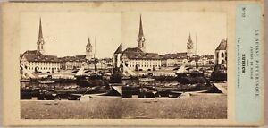SUISSE-Zurich-Photo-Furne-amp-Turnier-Stereo-P8L2n-Vintage-Albumine-ca-1858