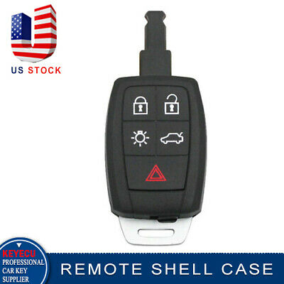 5B Remote Car Key Shell Case Keyless Entry Replacement for Volvo C30 C70 S40 V50