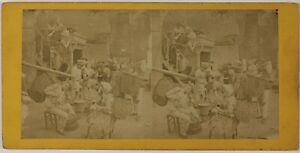 Scena Da Genere Francia Foto PL52n2 Stereo Vintage Albumina c1865