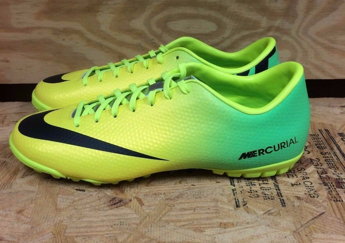 NIKE MERCURIAL VICTORY IV TF SOCCER SHOES CLEATS SZ 7.5-12   555615-703  L