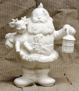 Ceramic-Bisque-Santa-Holding-Deer-Kimple-Mold-1590-U-Paint-Ready-To-Paint