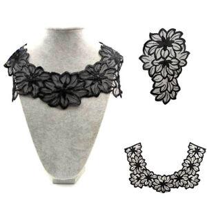 Mariage Dentelle Fleur Encolure Vêtements Patch robe appliqué brodé col