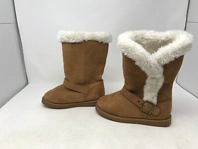 Girls Canyon River Blues 66489 Noel Brown Fuzzy Boots 438j