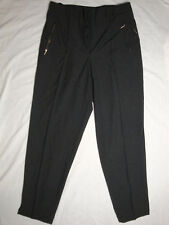 schicke Damen Hose 44 schwarz / anthrazit Business Arbeit woman pants black