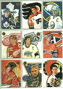 1993-94-LEAF-STUDIO-SIGNATURE-INSERT-CARDS-PICK-SINGLES-FINISH-SET-Rare-BV