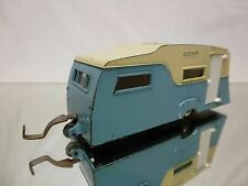 DINKY TOYS 188 FOUR BERTH CARAVAN - BLUE 1:43 - GOOD CONDITION