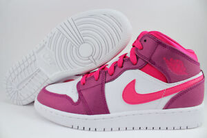 cheap for discount fab90 f14f8 Details about NIKE AIR JORDAN 1 MID BERRY PURPLE/PINK VALENTINES RETRO HIGH  WOMEN GIRLS YOUTH