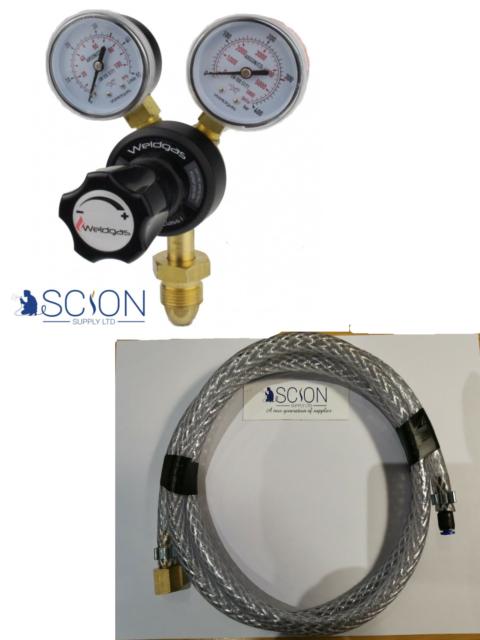Hobby Mini Mig Gas Conversion Kit Welding Regulator 4mm Hose