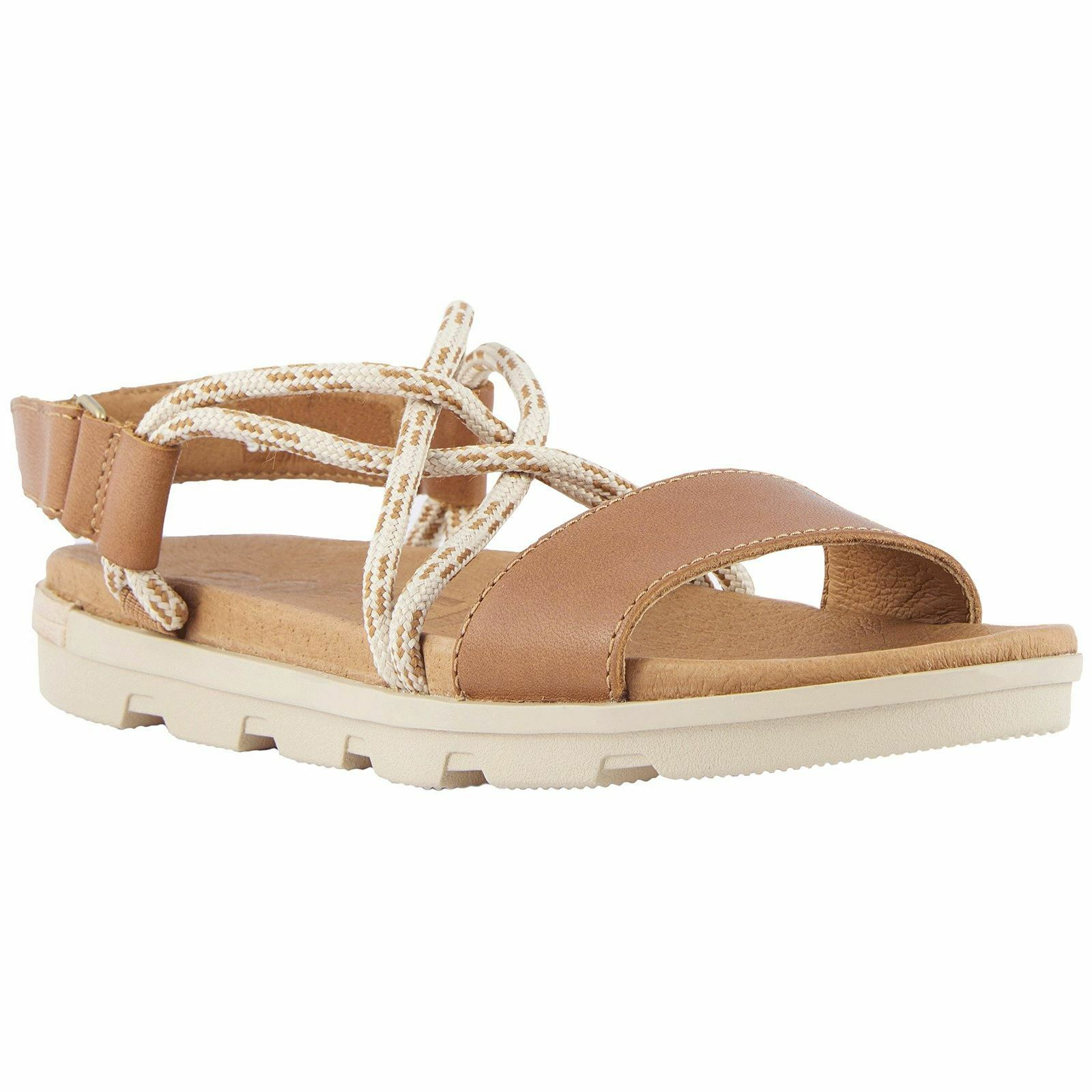 Sorel torpeda II Camel Marrón de atrás con sandalias de cuero para mujer