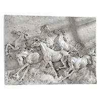 Wild Feral Horses Mustang Wall Hanging Statue Art Running Horse Western Decor