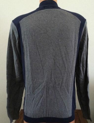 Alfie uomo Guess X44r05z10s0 Grigio S Mock Full blu piccola Cotton Taglia Sweater Zip qpIaR5wRx