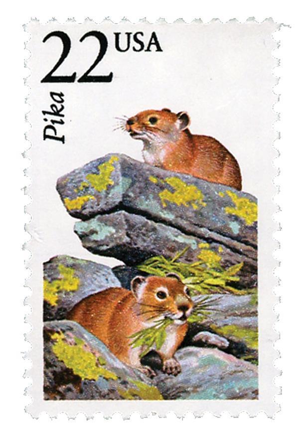 1987 22c Pika, North American Wildlife Scott 2319 Mint