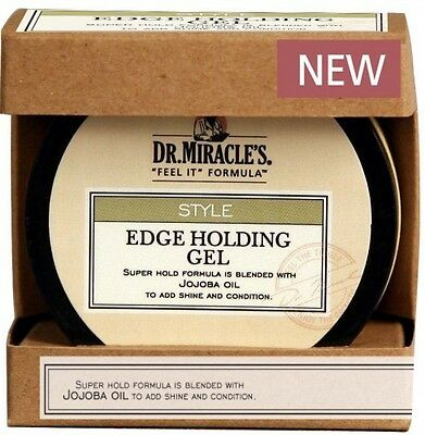 New Dr.Miracles EDGE Control/Holding Hair Gel With JOJOBA OIL Super Hold 2.25oz