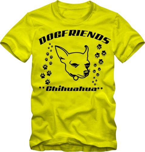 T-Shirt Chihuahua Chiens Shirt T-Shirt Avec Chiens Motif v Couleurs