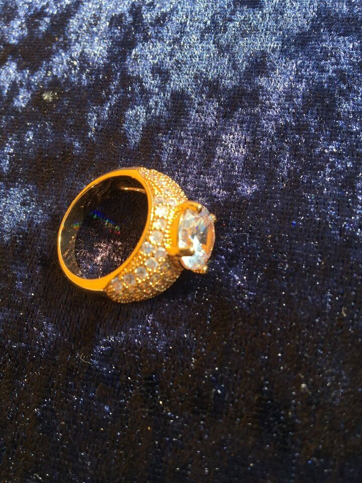 """Fingerring, andet materiale, Kvalitets """"Simulated"""""""