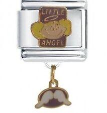 LITTLE ANGEL Dangle Daisy Charms by JSC Fits Classic Size Italian Charm Bracelet