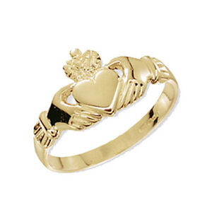 Elements Gold 9ct Yellow Gold Plain Claddagh Ring dyFma55hhi