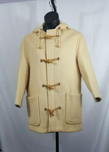 Gloverall Duffel Coat USA Size 12 Cream Wool Hoo… - image 1