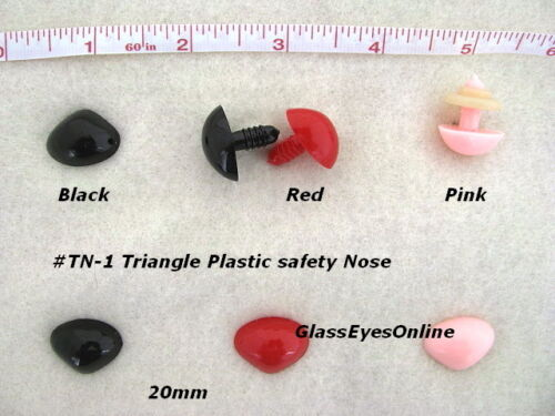 Eye 20 pc.18mm to 23mm Triangle Safety Nose TN-1 Doll Teddy Bear Button