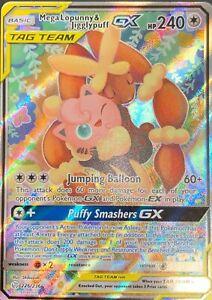 SM Cosmic Eclipse 225//236 Full Art Rare Pokemon Card Mega Lopunny /& Jigglypuff