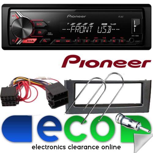 Fiat Grande Punto 05-14 Pioneer Mechless MP3 USB AUX GRIS Fascia Estéreo De Coche Kit