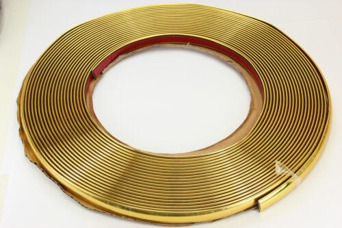 Gold chrome baguette 12 mm x 15 m auto-adhésif Universel Voiture Goldleiste Contour