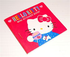 HELLO KITTY 1987 Sanrio Japan Mini Sticker book - librettino con adesive vintage