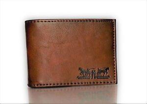 Levi-039-s-Men-039-s-Rfid-Blocking-Two-Horses-Logo-Passcase-Wallet-Brown