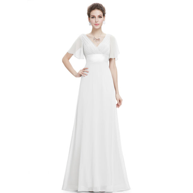 4456f59f7f Ever-Pretty Evening Party Dress Cocktail Wedding Prom Gown Bridesmaid Lot  09890 18 White