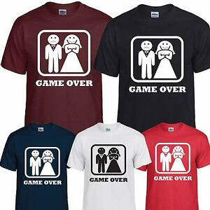 1684823978e71 Details about GAME OVER T SHIRT TOP TEE TSHIRT WEDDING HEN STAG FUNNY BRIDE  GROOM DAD DADDY