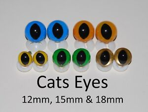 CATS-EYES-with-PLASTIC-BACKS-Teddy-Bear-Making-Soft-Toy-Doll-Animal-Craft